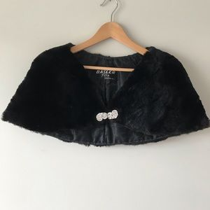 Vintage Basler furs black fur shawl -rhinestones